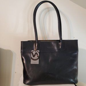 NWT Valentina Italy Leather Tote Briefcase Travel